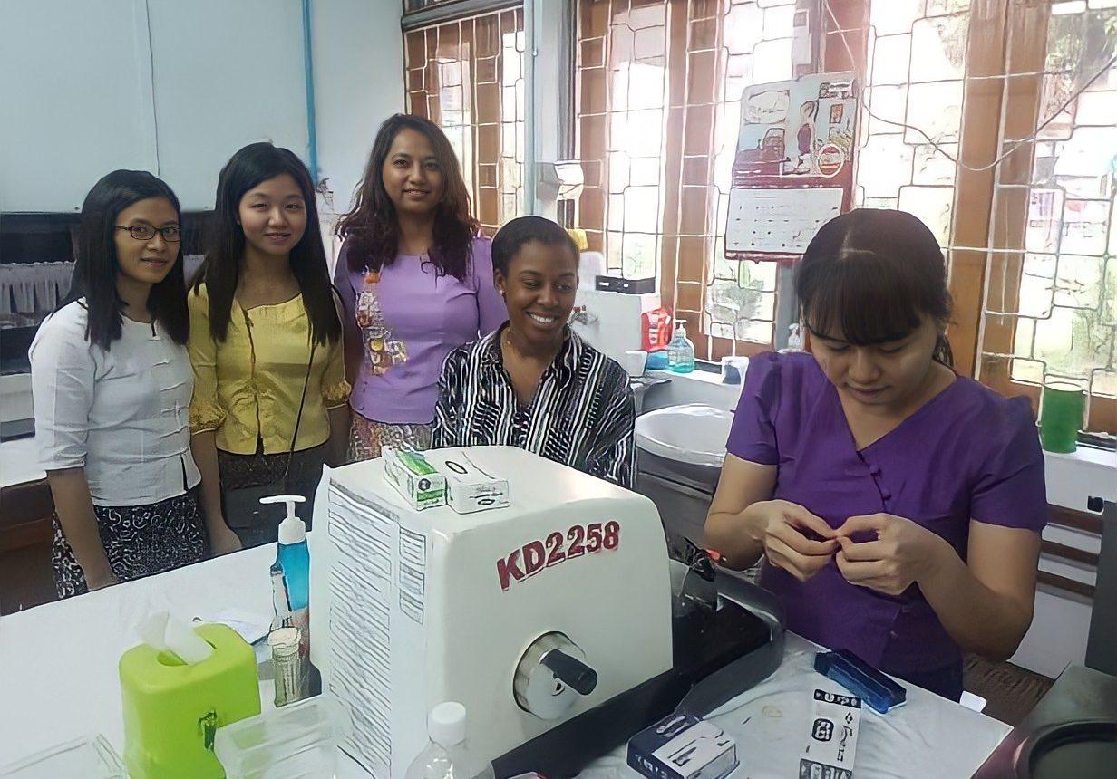 Volunteer - Shanice Brown Myanmar hospital with World Child Cancer