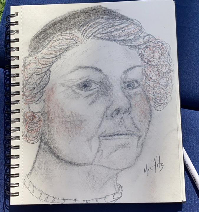 Caitriona Balfe Drawing Mrs Fitz World Child Cancer