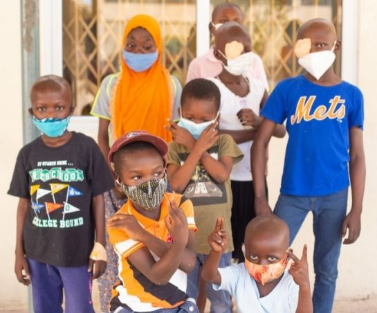 Young patients receiving treatment at Korle-Bu Teaching Hospital World Child Cancer